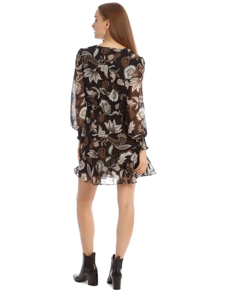 Long Sleeve Shirred Detail Dress image 3