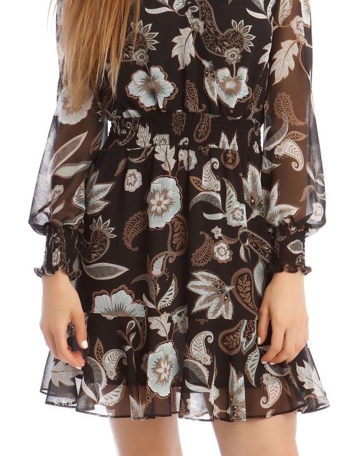 Long Sleeve Shirred Detail Dress image 4