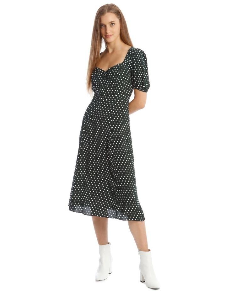 Puff Sleeve Midi Dress image 1