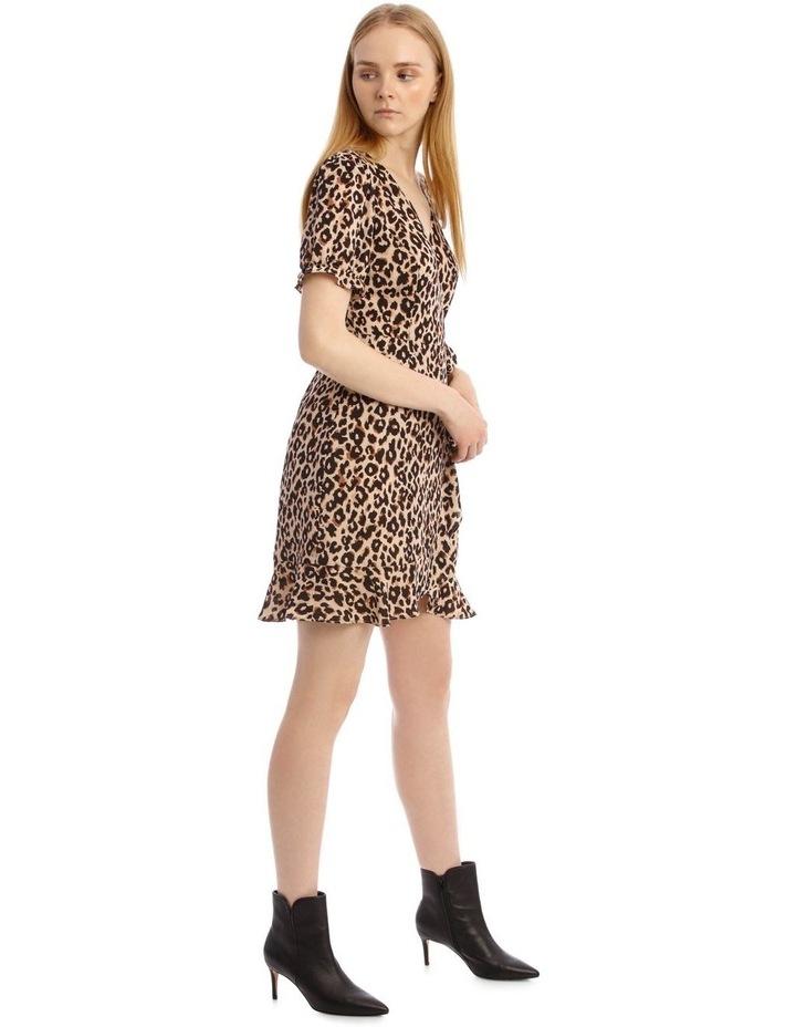 Short Puff Sleeve Wrap Dress image 2