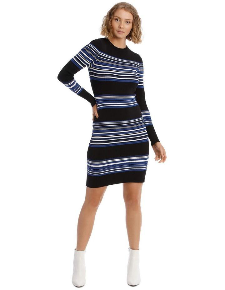 Long Sleeve Rib Knit Dress image 1