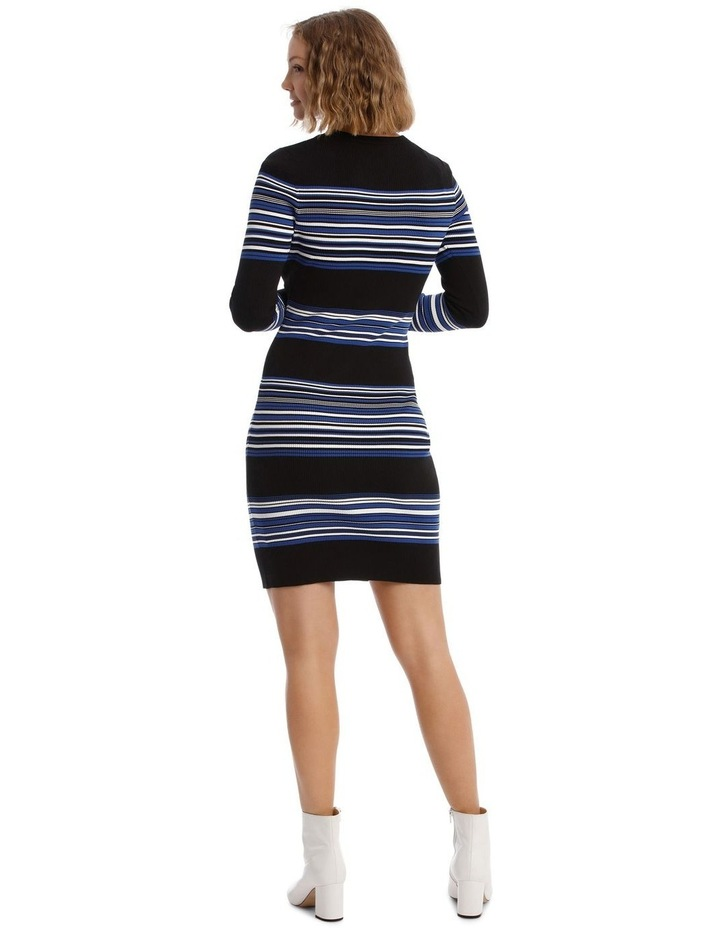 Long Sleeve Rib Knit Dress image 3