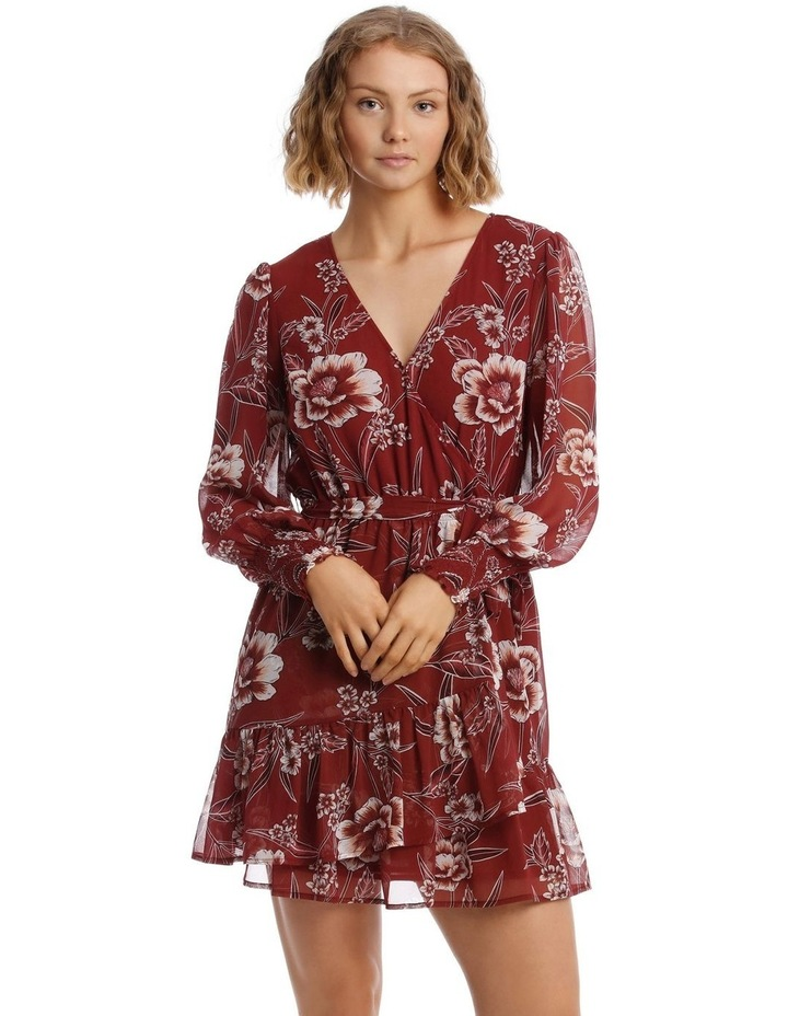 Shirred Cuff Apron Front Dress image 2