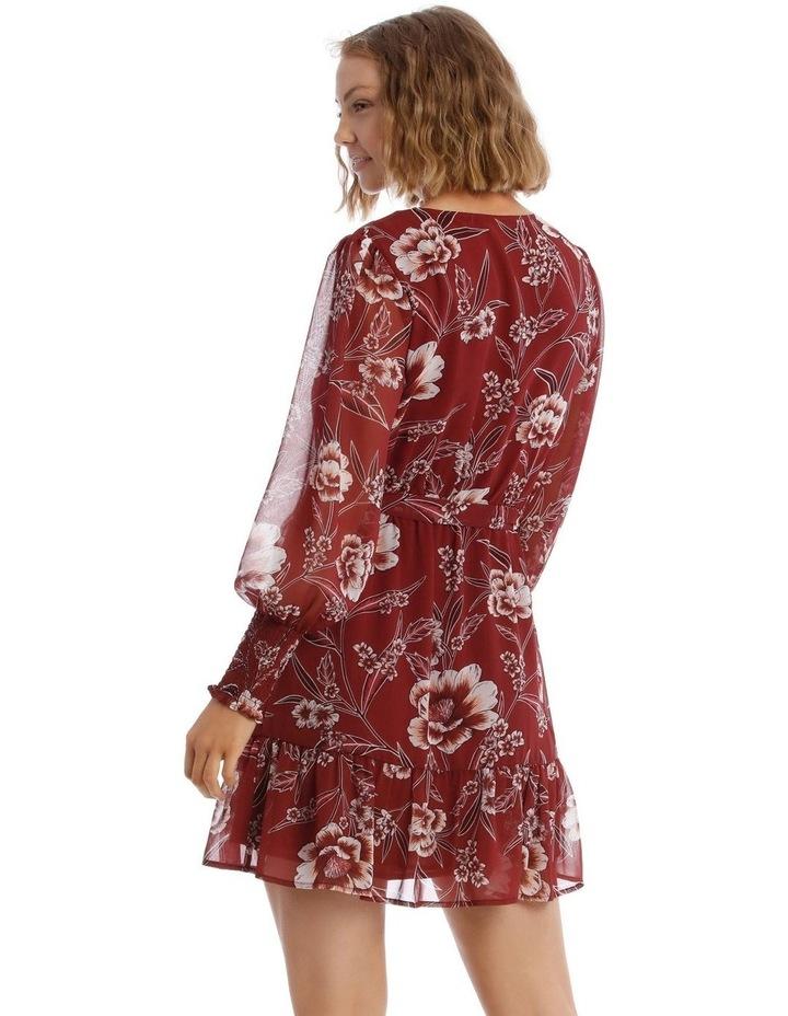 Shirred Cuff Apron Front Dress image 3