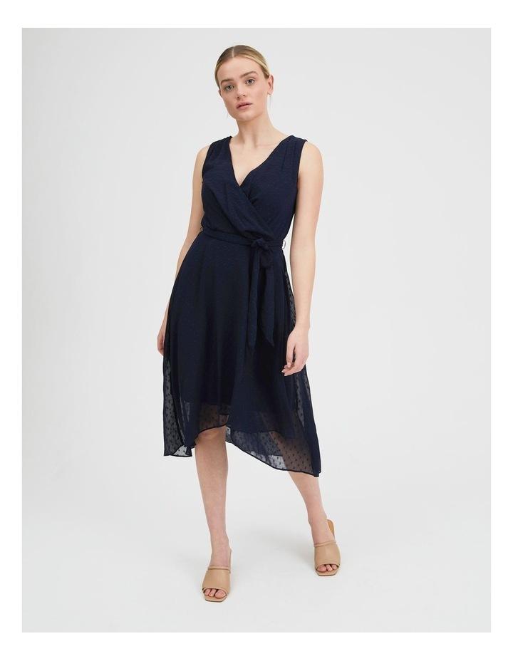 Dobby Spot Midi Wrap Dress image 1