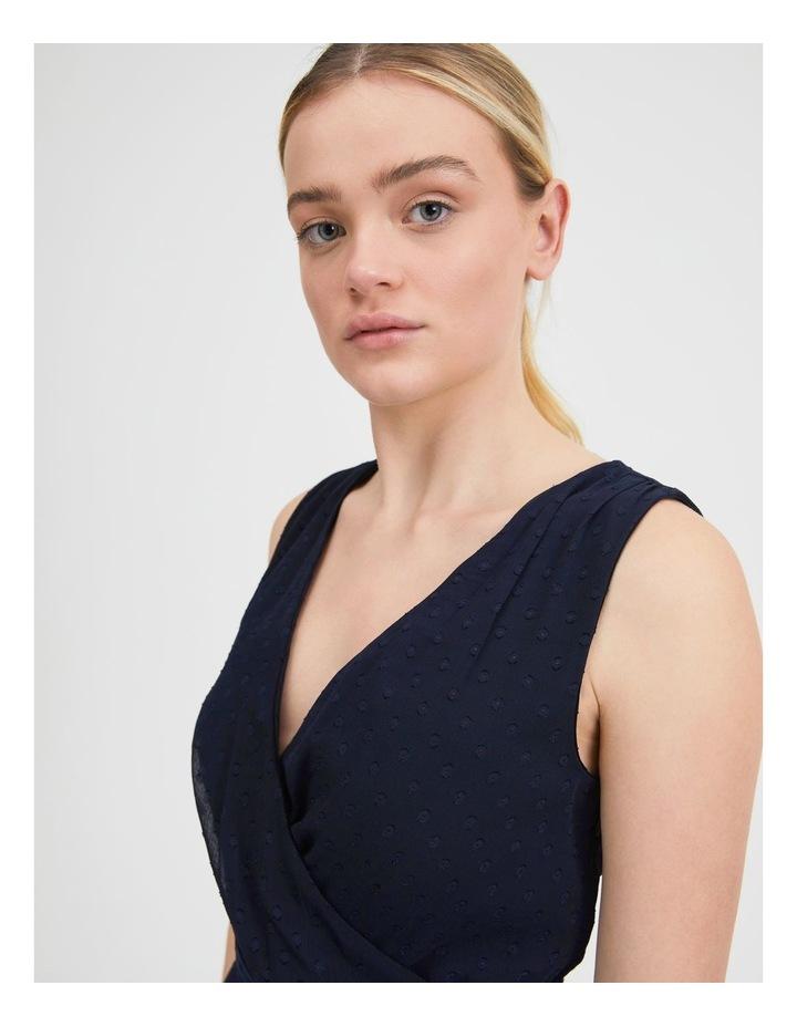 Dobby Spot Midi Wrap Dress image 4