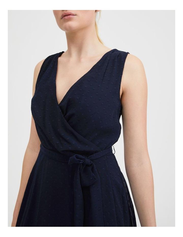 Dobby Spot Midi Wrap Dress image 5