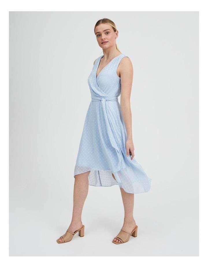 Dobby Spot Midi Wrap Dress image 2