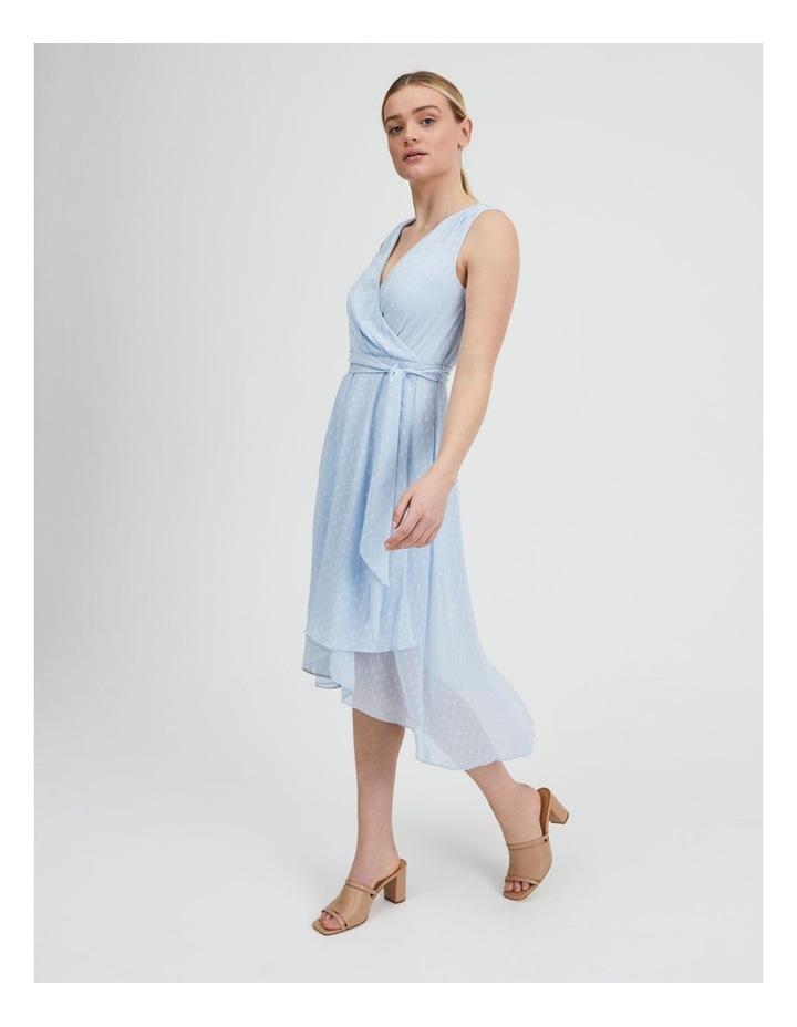 Dobby Spot Midi Wrap Dress image 3