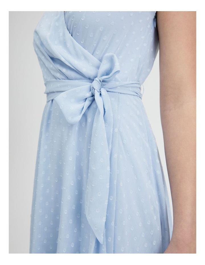 Dobby Spot Midi Wrap Dress image 6