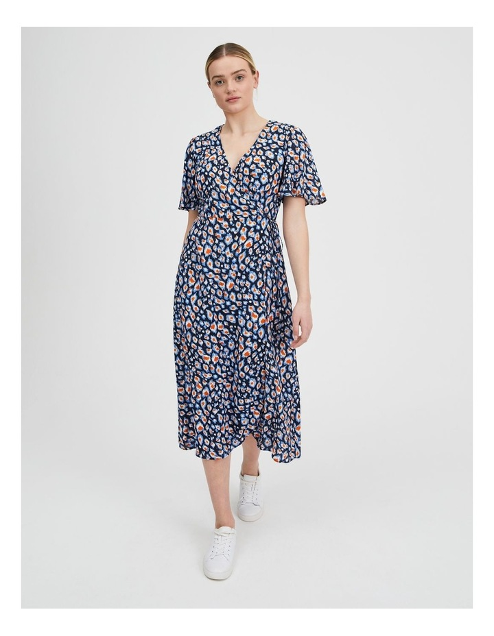 Printed Wrap Midi Dress image 1