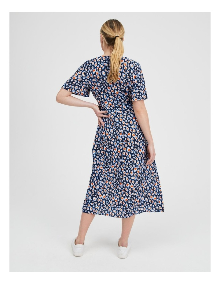 Printed Wrap Midi Dress image 3