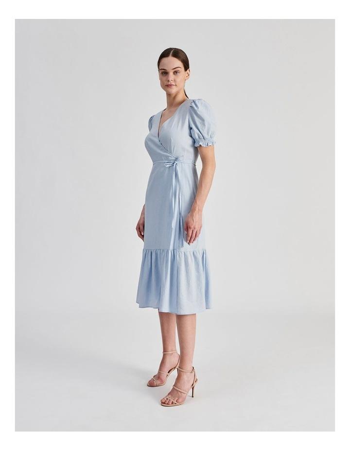 Linen Blend Wrap Midi Dress image 2