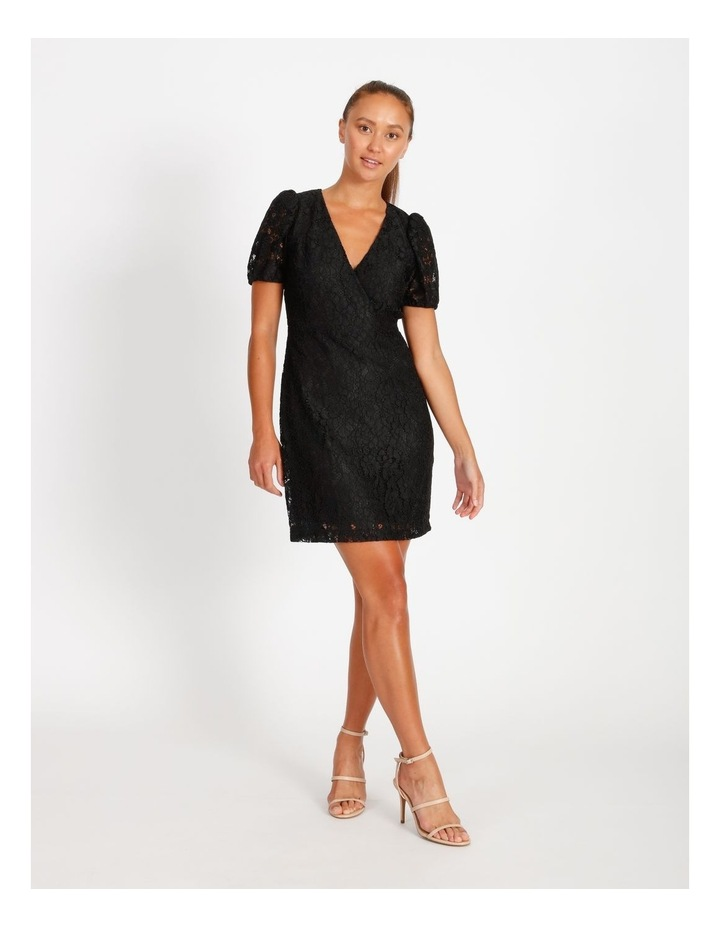 Puff Sleeve Lace Mini Dress image 1