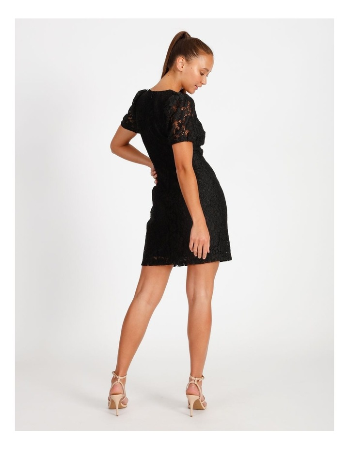 Puff Sleeve Lace Mini Dress image 3