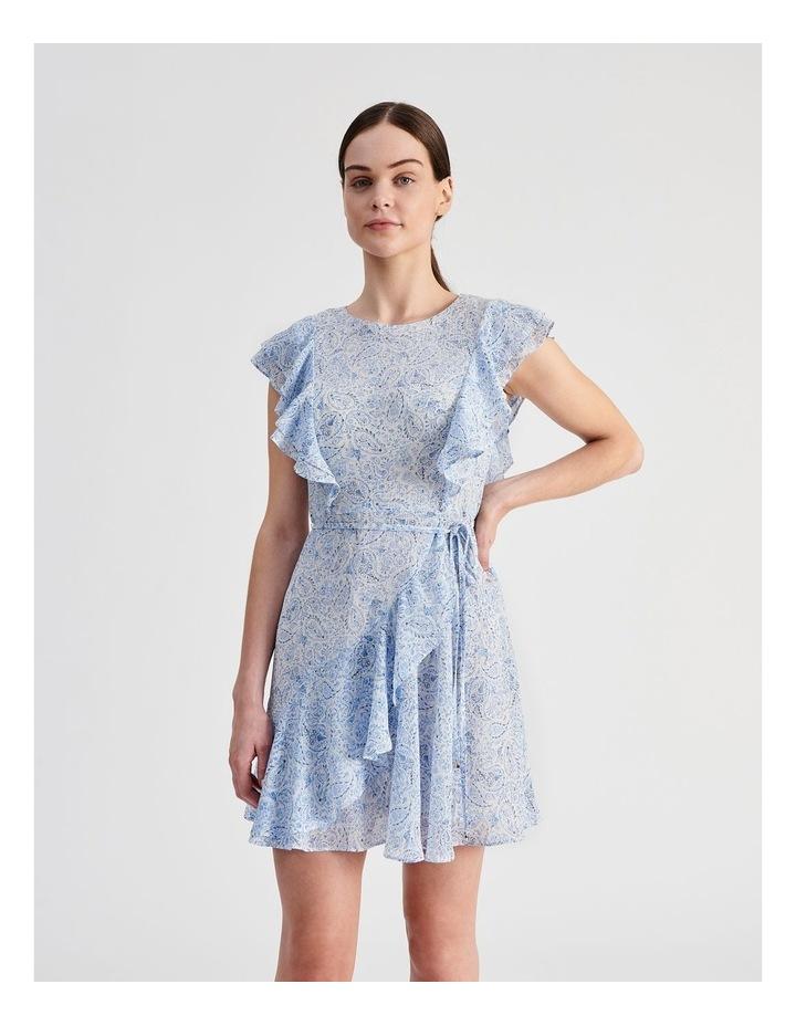 Ruffle Mini Wrap Dress image 1