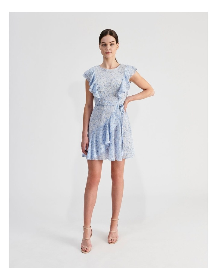 Ruffle Mini Wrap Dress image 4