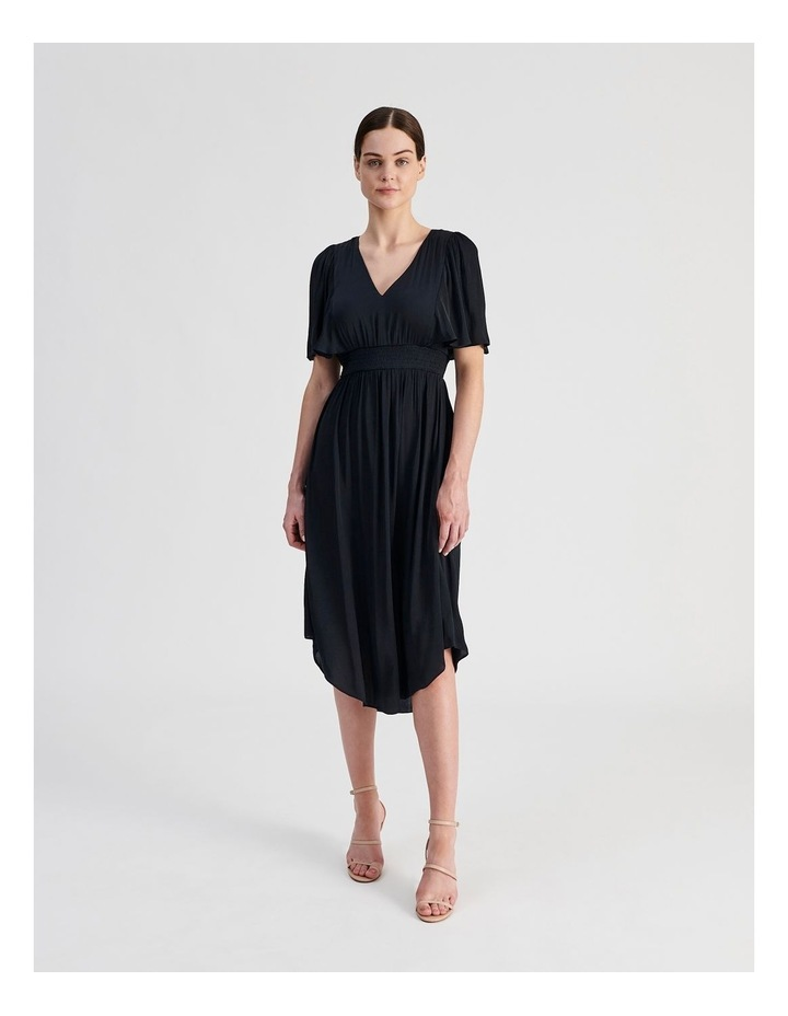 Hankie Hem Satin Midi Dress image 1