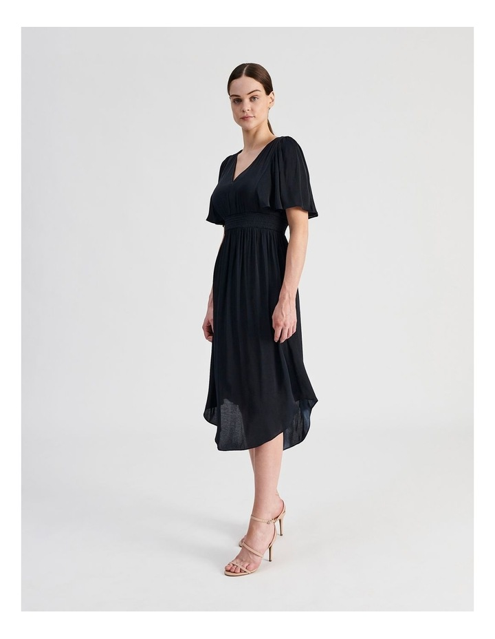 Hankie Hem Satin Midi Dress image 2