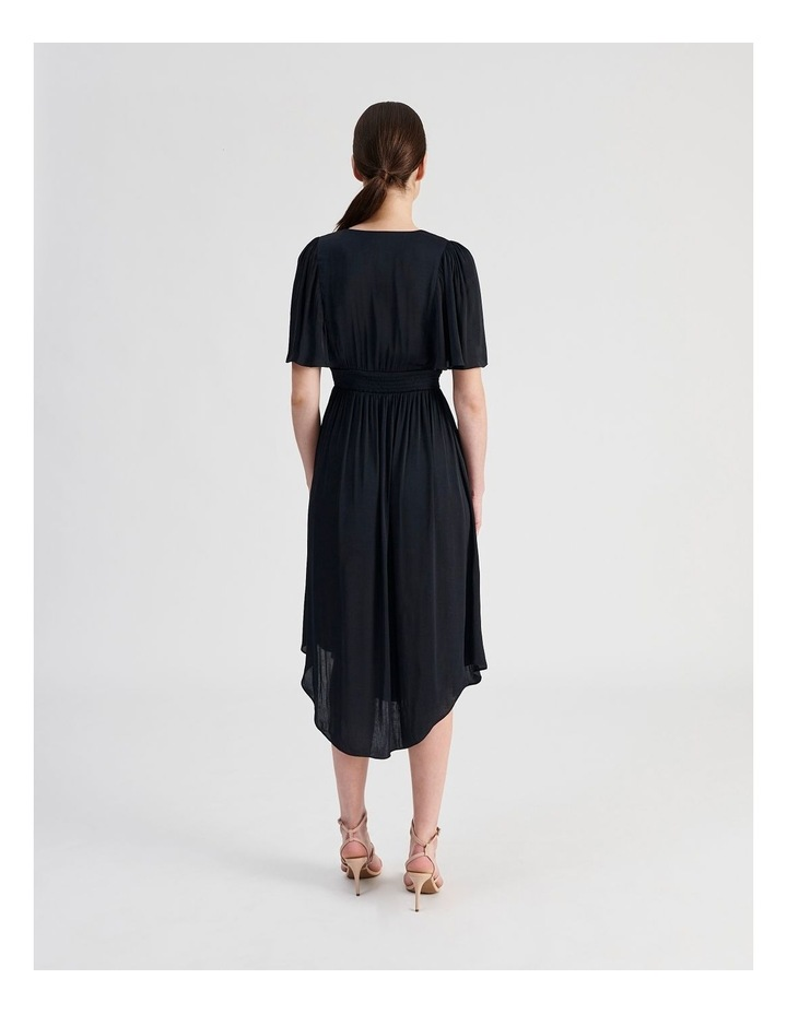 Hankie Hem Satin Midi Dress image 3
