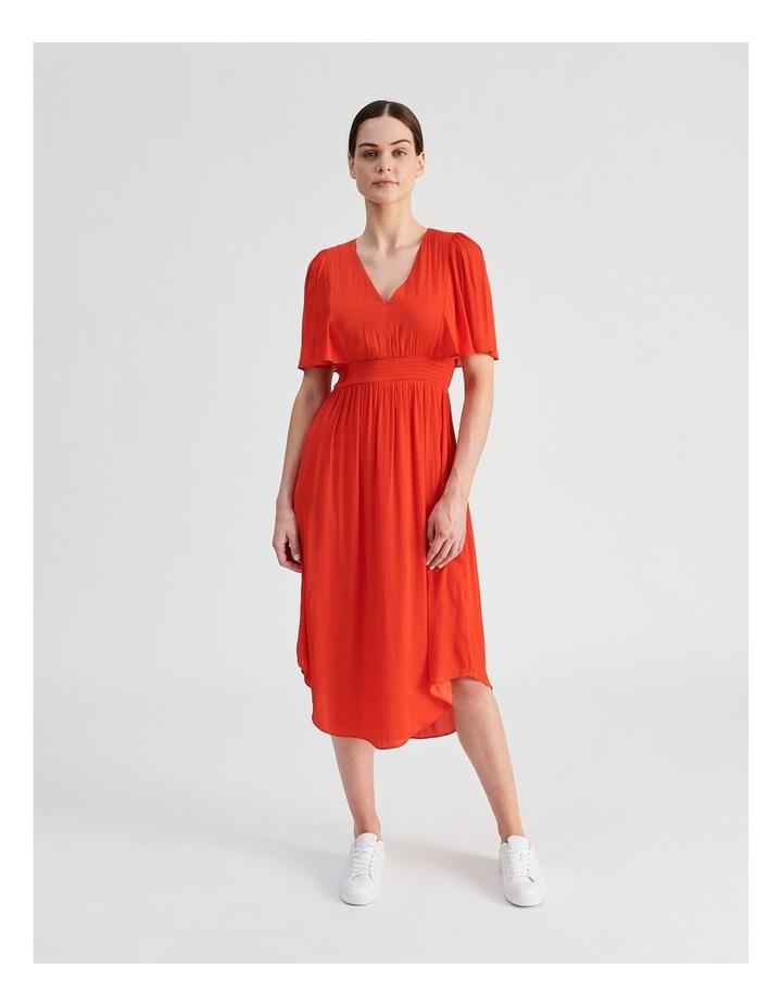 Hankie Hem Satin Midi Dress image 1
