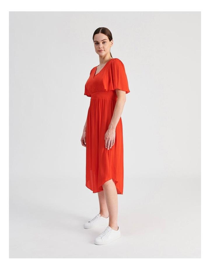 Hankie Hem Satin Midi Dress image 2