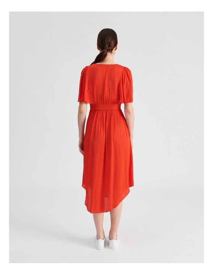 Hankie Hem Satin Midi Dress image 3