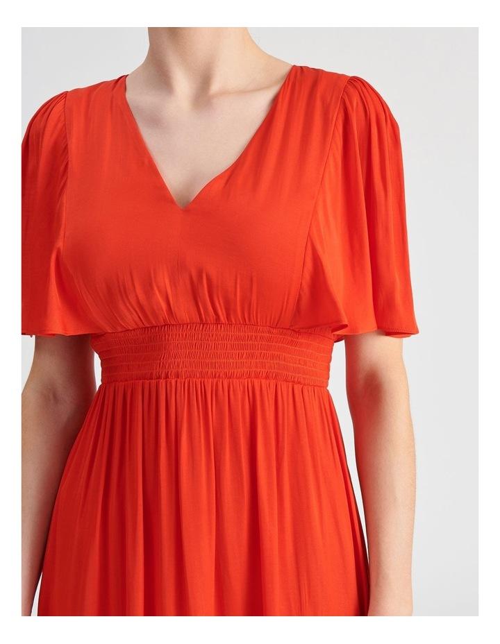 Hankie Hem Satin Midi Dress image 4