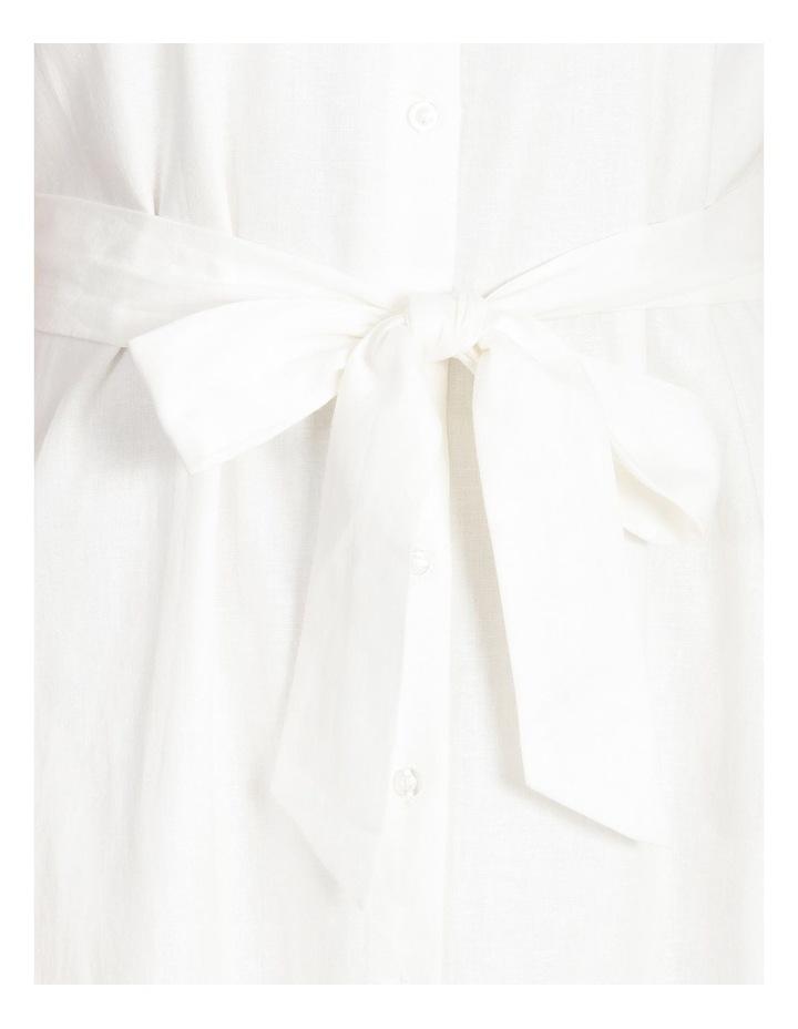 Linen Blend Shirt Dress image 5