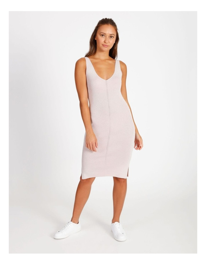 Metallic Knitted Midi Dress image 1