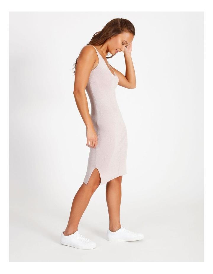 Metallic Knitted Midi Dress image 2