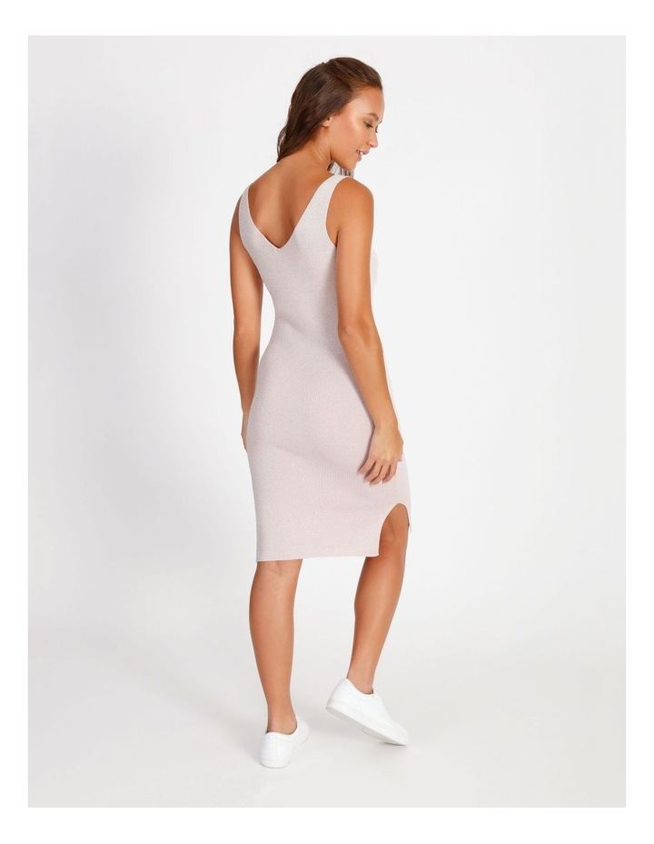 Metallic Knitted Midi Dress image 4