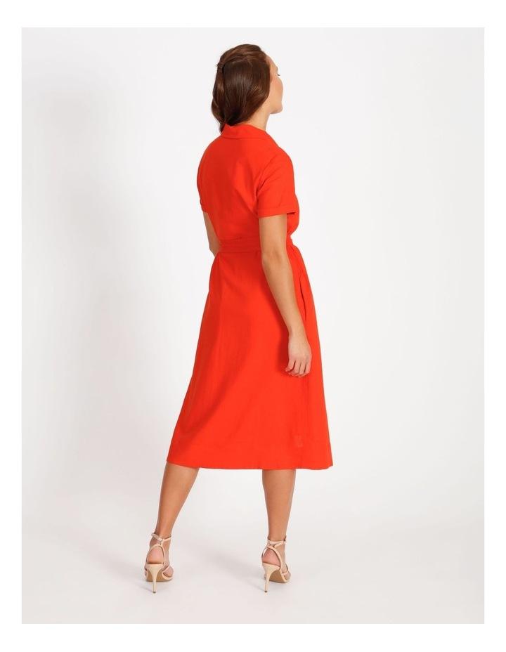Linen Blend Shirt Dress image 3