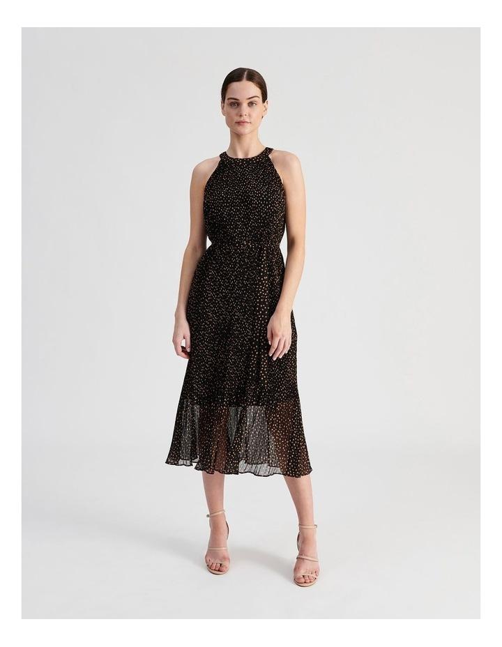 Pleated Halter Midi Dress image 1