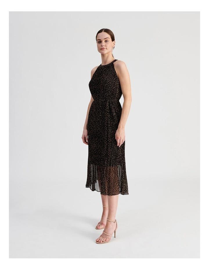 Pleated Halter Midi Dress image 2