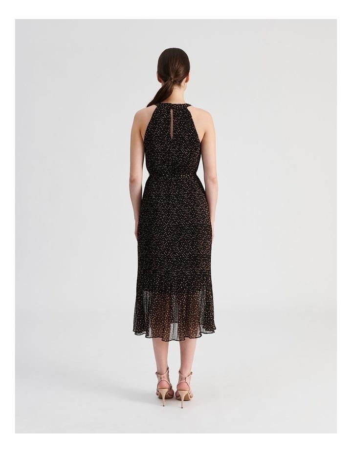 Pleated Halter Midi Dress image 3