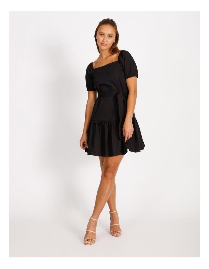 Cotton Poplin Puff Sleeve Mini Dress image 1