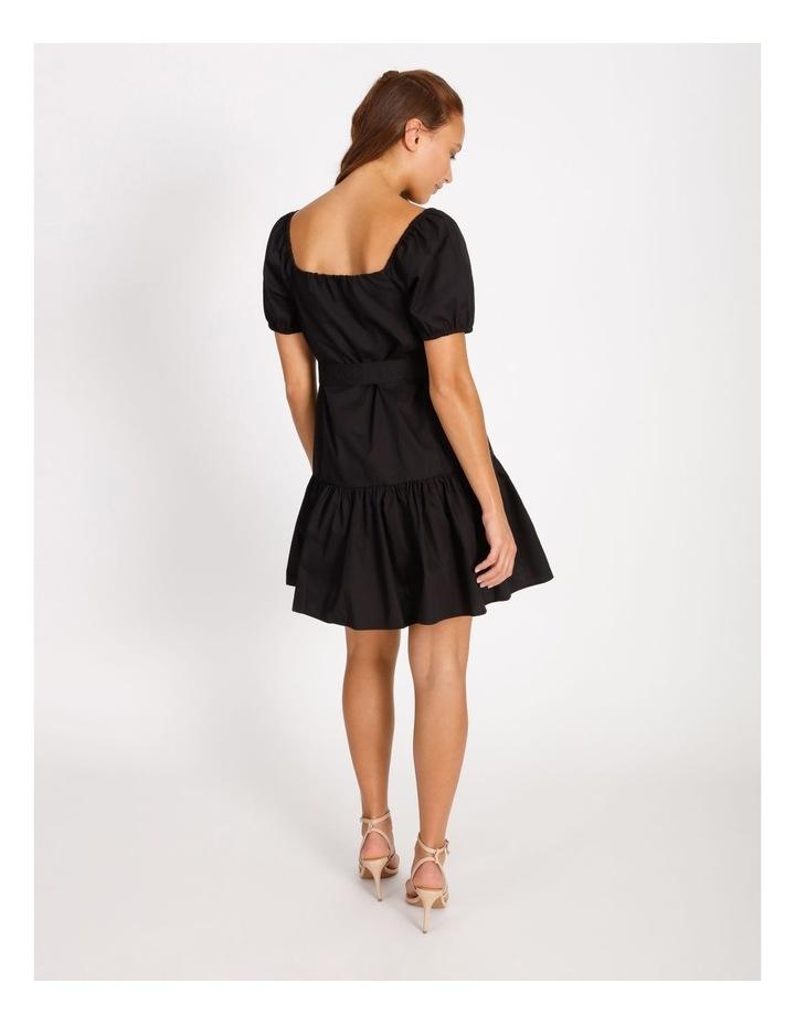 Cotton Poplin Puff Sleeve Mini Dress image 3