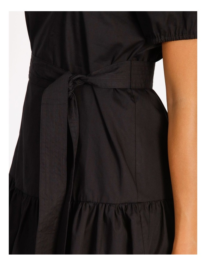 Cotton Poplin Puff Sleeve Mini Dress image 4