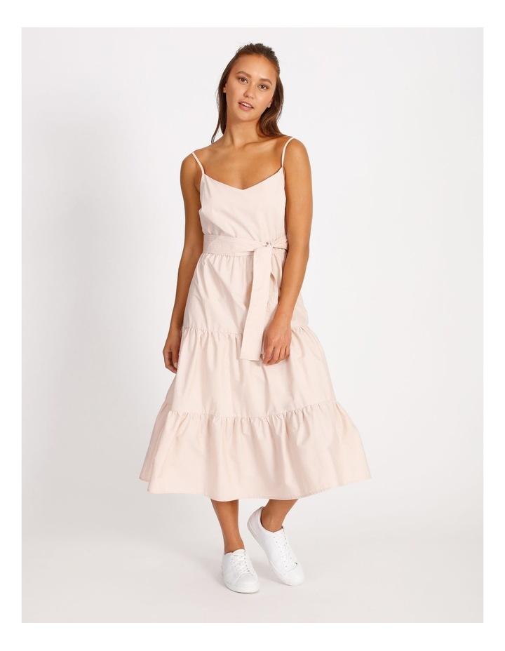 Cotton Poplin Tierd Maxi Dress image 1