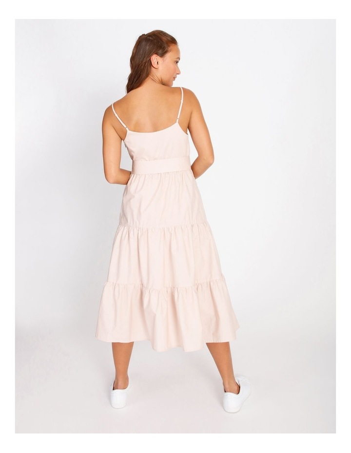 Cotton Poplin Tierd Maxi Dress image 3