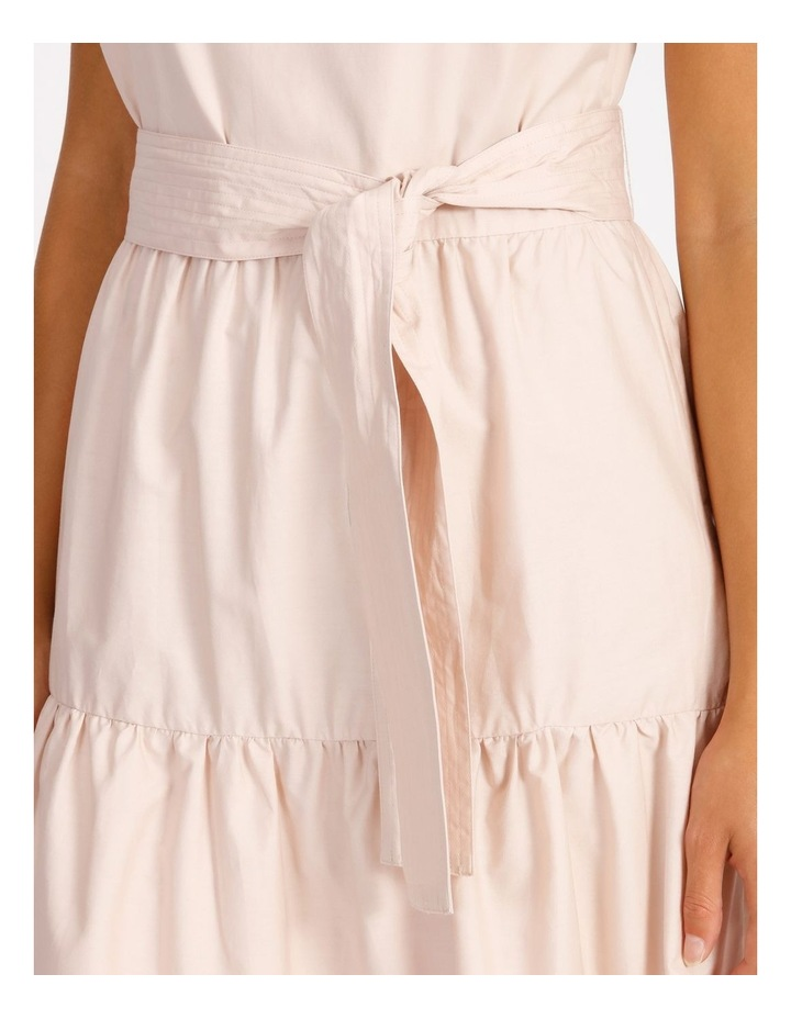 Cotton Poplin Tierd Maxi Dress image 4