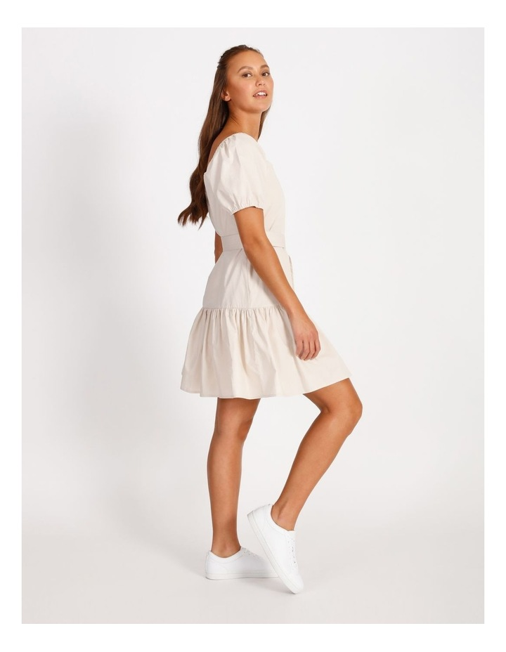 Cotton Poplin Puff Sleeve Mini Dress image 2