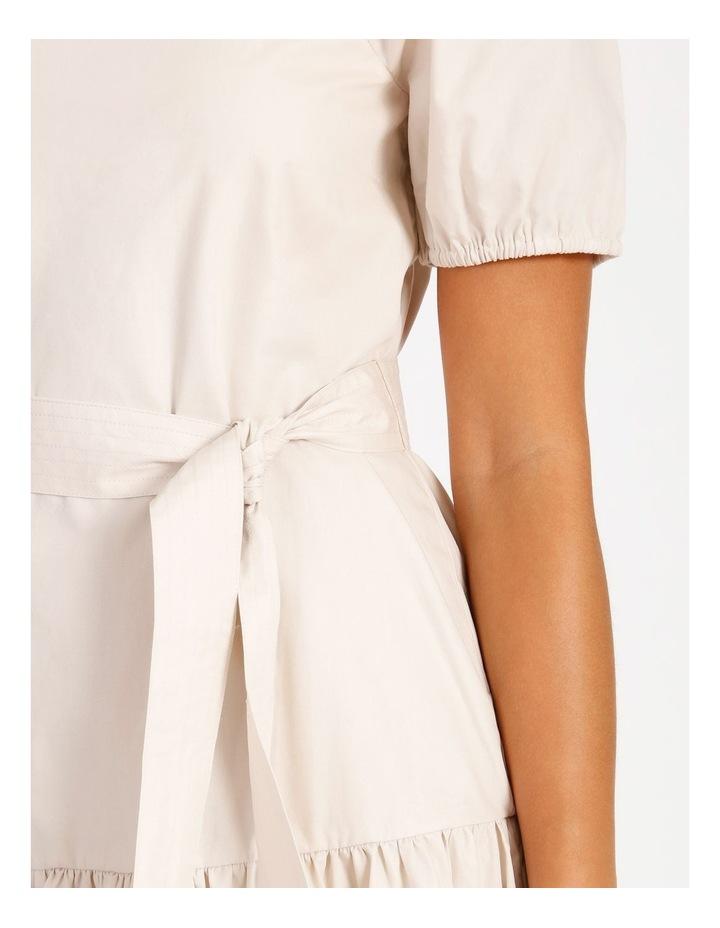 Cotton Poplin Puff Sleeve Mini Dress image 5