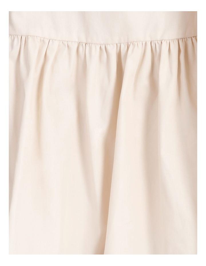 Cotton Poplin Puff Sleeve Mini Dress image 6