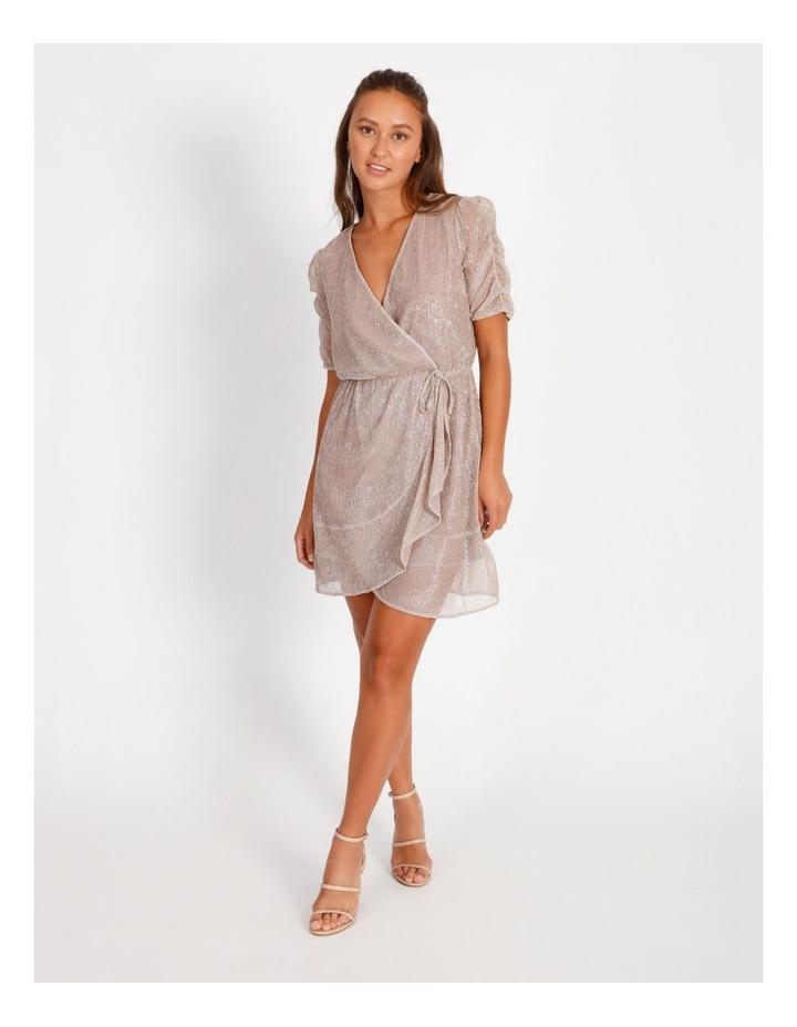 Metallic Plisse Mini Dress image 1