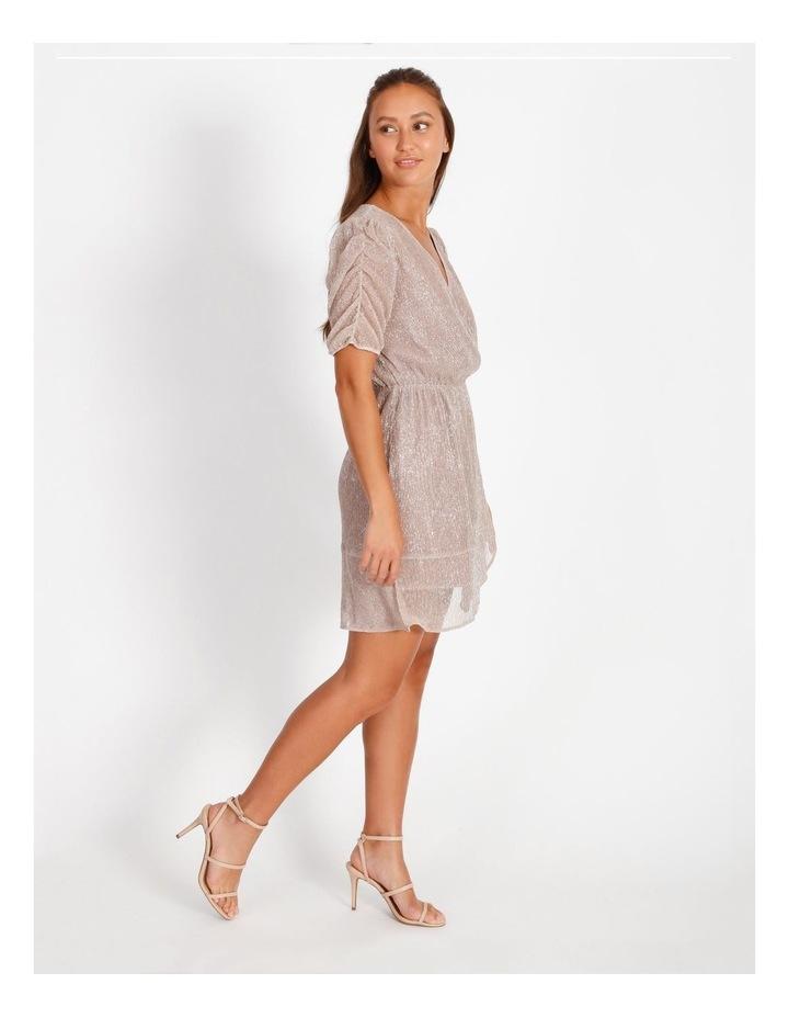Metallic Plisse Mini Dress image 2