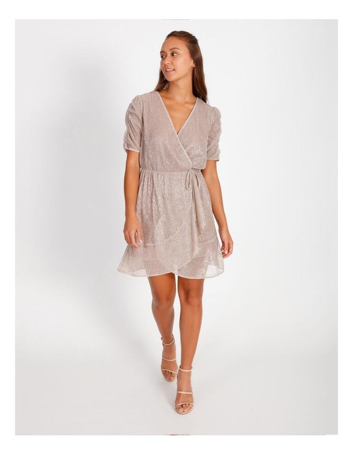 Metallic Plisse Mini Dress image 3