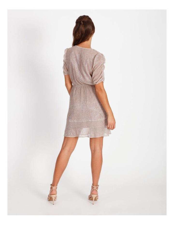 Metallic Plisse Mini Dress image 4