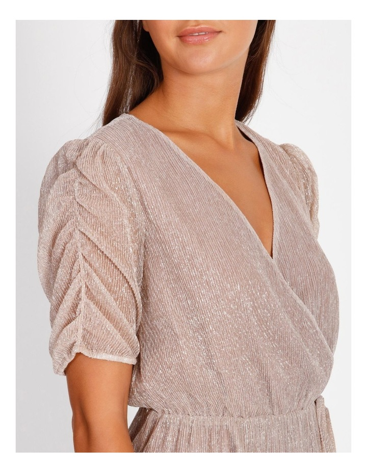 Metallic Plisse Mini Dress image 5